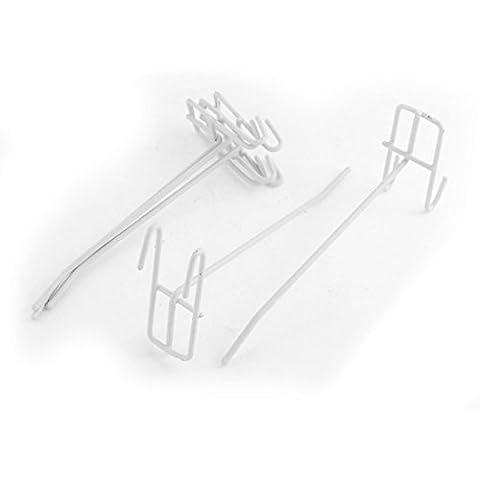 Metal Shop tienda listón Gridwall del soporte 5pcs colgantes exhibición de gancho blancas