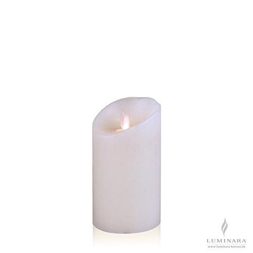 Luminara–Vela de cera con led (8x 13cm Color Blanco Liso