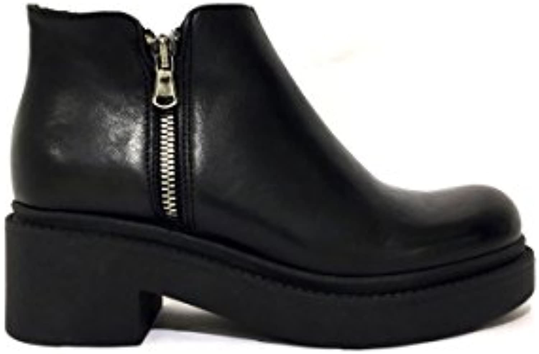 Stivaletti DK105-522 in pelle nero tacco medio zip platform platform platform MainApps | Online Store  | Sig/Sig Ra Scarpa  3eaa7b