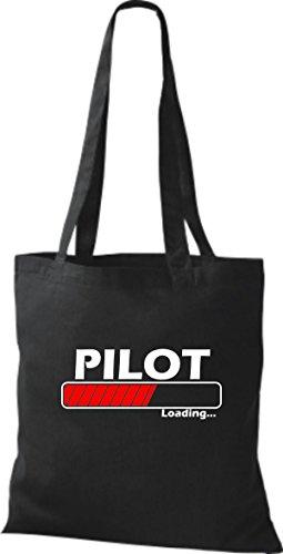Jute Stoffbeutel Pilot Loading viele Farben schwarz
