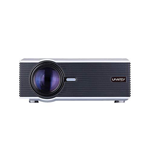 Beamer HDD U88 Einzel-LCD-Panel-1080P LED HD Mini-Projektor mit Fernbedienung, Unterstützung VGA / USB / SD / HDMI / 3,5-mm-Audio-Anschluss / AV / TV (Schwarz) ( Color : Silver )