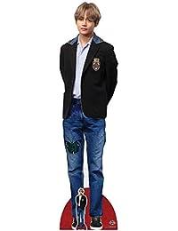 Star Cutouts CS784 V Bangtan Boys Kim Tae-Hyung Blazer - Recortes de cartón (tamaño real, con mini recorte (BTS Kpop) 178 cm de alto, multicolor