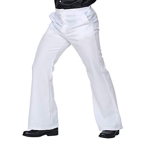 WIDMANN 09244 - Pantalón para hombre, diseño de los años 70, color blanco