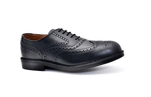 2W4 ,  Herren Brogues , Schwarz - schwarz - Größe: 44 Schwarz