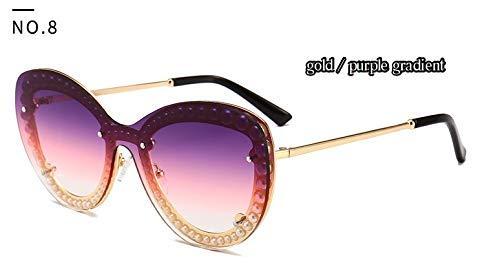 GFF Eingebettete Perle Clip Art Sonnenbrille Frauen Brille UV400 Designer Mode weiblich 46024