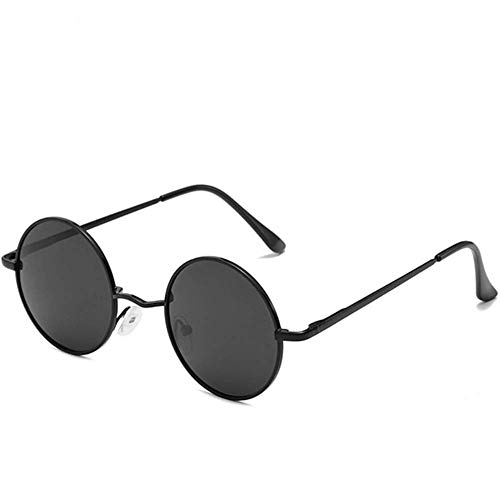 SHIYID Sonnenbrille Für Rave Party Runde Sonnenbrille Herren Circle Lens Hip Hop Shades Man