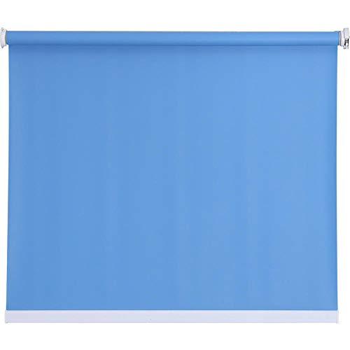 dusg Estores Collection Estor Enrollable Liso Persianas Perforar Tirar Perlas Todos los Tonos Azul Claro 160 × 220CM
