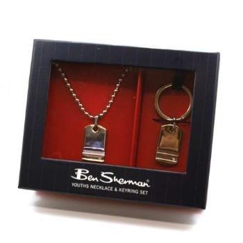 ben-sherman-ragazzi-double-face-e-portachiavi-con-targhetta-confezione-regalo