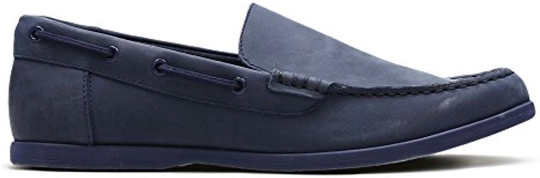 Clarks Morven Sun - Zapatos de cordones de Piel para hombre Azul azul -