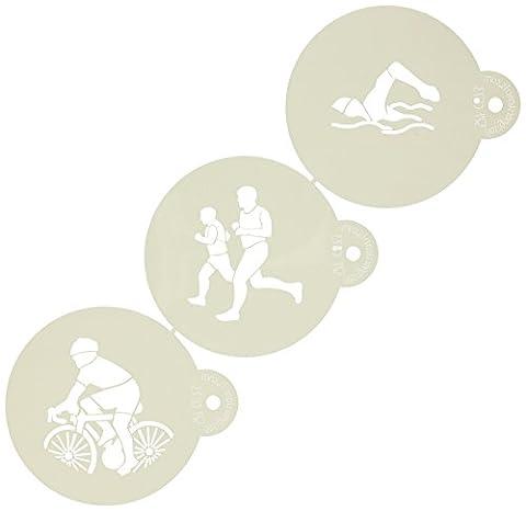 Triathlon Cookie Schablone Set von Designer Schablonen