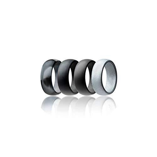 Tiamo Violet Silikon Ring 4Pcs / Set 8Mm Food Grade Fda Silikon-Finger-Ring hypoallergen Crossfit, 9,2 (Camo Trauringe Frauen)