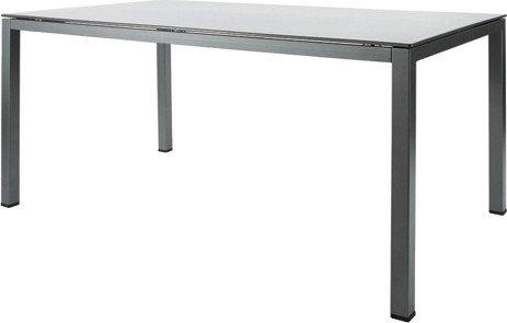 MWH-Garden & Home Loft-Tisch 160x95cm Tischplatte mocca/Untergestell champagner