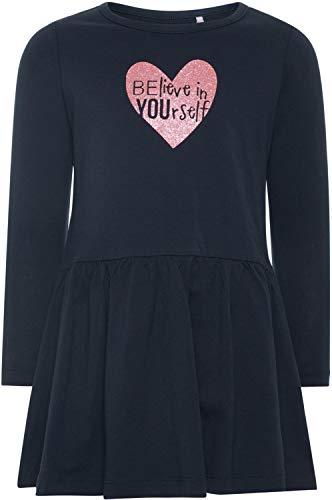 NAME IT Mädchen Sweatkleid Langarm Baumwolle NMFVANYA, Größe:92, Farbe:Dark Sapphire
