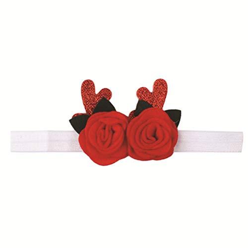 Chenguld Haarband für Neugeborene, 2 rote Rosen mit -