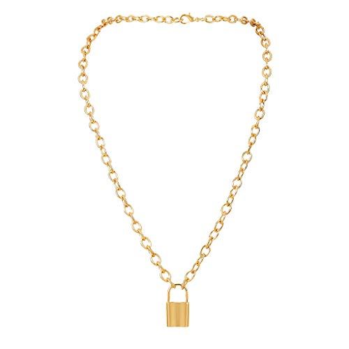 Floweworld Damen Chic Choker New Lock Anhänger Vorhängeschloss Charm Halskette Schmuck Geschenke für Mädchen Damen (Lock-bildschirm-tür)