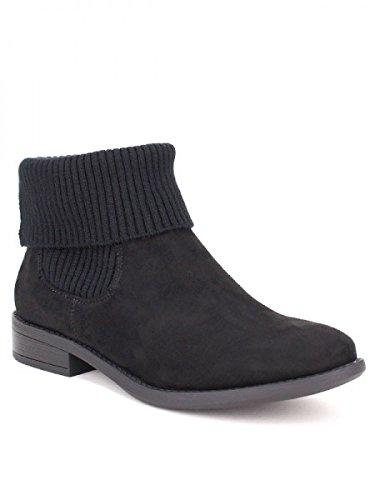 Guêtre Sia Noir Noire Façon Chaussures Cendriyon Femme Bottine Mode Ixntqwx5a8