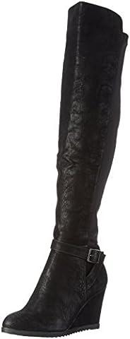 Bullboxer 037506E7S , Damen Langschaft Stiefel, Schwarz (BLCK), 37 EU