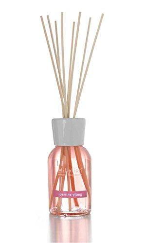 Millefiori 7MDJY Jasmine Ylang Raumduft Diffuser 100 ml Natural inklusive hochwertiger Balsaholzstäbchen, Plastik, Rosa, 6.8 x 26.1 x 6.6 cm