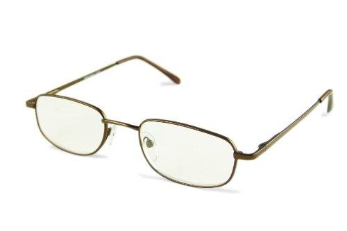Die Braune Brille mit Stärke +3,00 Klassisches Design Inkl. Etui PD62-64mm DD205CE