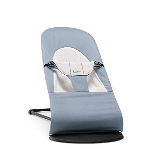 BABYBJÖRN Bouncer Balance Suave, Algodón/Jersey, Azul/Gris, 2.25 kg