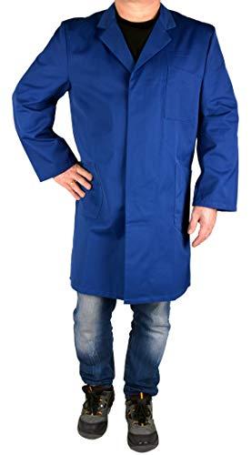 Iwea Stabiler Arbeitsmantel Berufsmantel Kittel Mantel Arbeitsbekleidung Workwear, Blau, 52