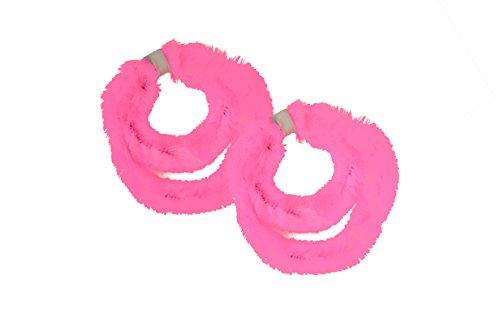 * Zwei Paar (vier Stück) Nabenputzringe aus Chenilledraht in verschiedenen Farben (Rosa)