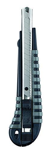 KWB Cuttermesser mit Abbrechklinge 9mm 015109 (Edelstahl Klingenführung, schweres Gehäuse mit Gummierter und rutschfester Grifffläche), 1 Stück, 9 mm,