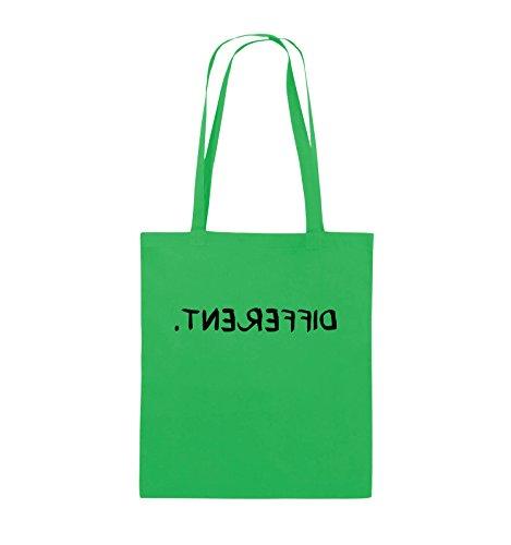 Comedy Bags - DIFFERENT - GESPIEGELT - Jutebeutel - lange Henkel - 38x42cm - Farbe: Schwarz / Pink Grün / Schwarz