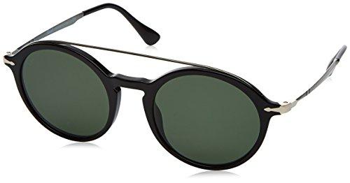 Persol 0po3172s 95/31 51 occhiali da sole, nero (black/green), uomo