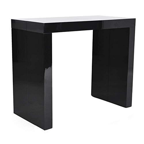 Bricok tavolo consolle allungabile fino a 3 metri, consolle in mdf laccato, 45 x 95 x 75 cm, nero lucido laccato