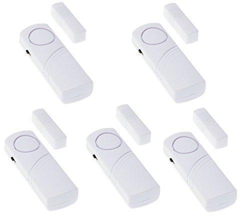 Adapter-Universe® 5x Türalarm Fensteralarm Alarmanlage Sirene Alarm Set Einbruchschutz Fenster Tür