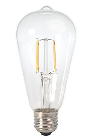DC 12 Volt Warm White 6 Watt LED Filament ST64 Light Bulb E26 E27 Medium Base Lamp Low Voltage Marine Boat Solar Theatrical Production Stage Prop Retro Edison 12V Battery Lighting (Warm