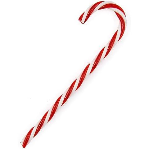 TRIXES 6x 15cm Bastones de Caramelo Retorcidos Rayas Rojas y Blancas Decoración de Navidad