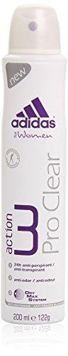 Adidas Deodorante, Woman Pro Clear, 200 ml