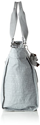 Kipling - New Shopper L, Borse Tote Donna Grigio (Dazz Grey)