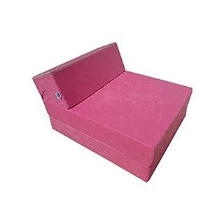 Natalia Spzoo® Matelas de jeunesse lit fauteuil futon pliable pliant choix des couleurs - longueur 160 cm (Rose)