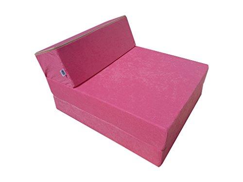 Natalia Spzoo Jugend Kindermatratze Kindersessel zum schlafen und Spielen (Pink)