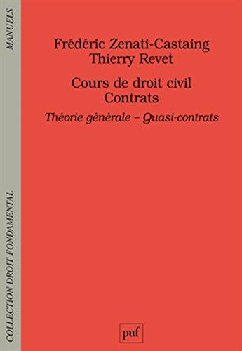 Contrats. Théorie générale - Quasi-contrats