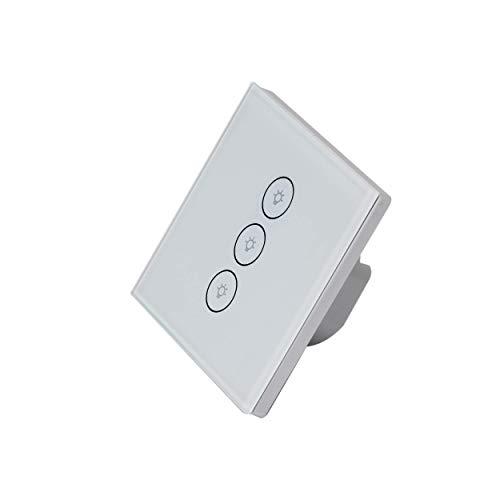 GT Touch-Schalter LED-Licht Smart-Schalter Wandleuchte Smart-Touch-Schalter Touchscreen Kompatibel Mit Alexa Und Google Home Kein Hub Erforderlich (1-Wege-3-Gang) (Apps Life Kostenlose Sporting)
