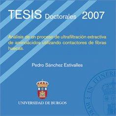Análisis de un proceso de ultrafiltración extractiva de aminoácidos utilizando contactores de fibras huecas (Tesis) por Pedro Sánchez Estivalles