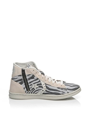 Converse Hightop Chaussures Pro Leather Lp Mid Can Zip PRI naturweiß/grau