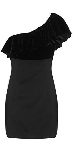Maria Satin and Velvet Mini Dress