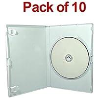 MasterStor, confezione da 10 pezzi, colore: bianco, 14 mm-Wii DVD caso, manica casi di ricambio per Nintendo Wii/dischi Games