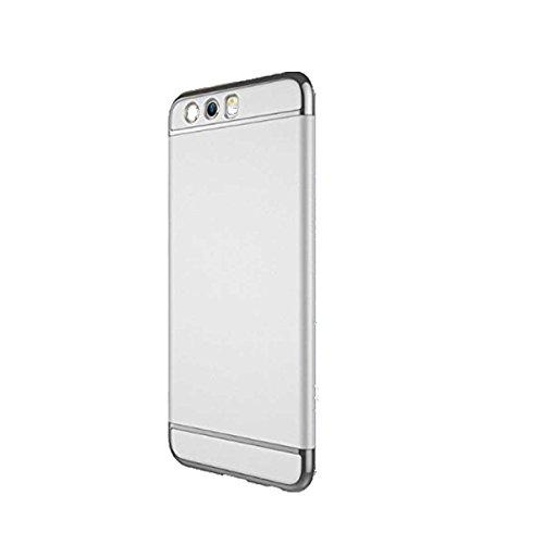 Neivi Huawei P10 Hülle, Huawei P10 / P10 Plus Hüllen Handyhülle Ultra Slim Case 3 in 1 Harte PC Hardcase 360 Grad Schutzhülle with Bumper Schutz Tasche Schale für Huawei P10 (Silber, Huawei P10)