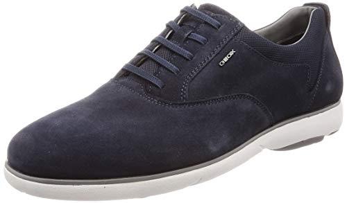Geox u nebula f b, scarpe stringate oxford uomo, (navy c4002), 45 eu