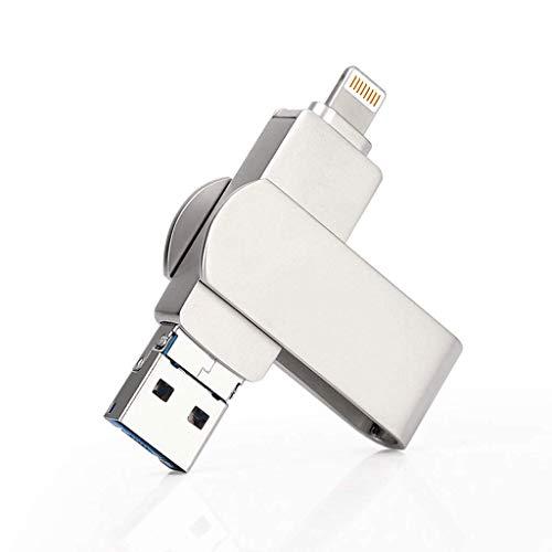 Opmea chiavetta usb girevole chiavetta usb cellulare u disco tre-in-one telefono cellulare u disco argento esterno unità disco u. (dimensioni : 64gb)
