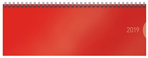 Tischquerkalender Classic Colourlux rot 2019: Tischkalender - 1 Woche 1 Seite - Format: 29,8 x 10,5 cm
