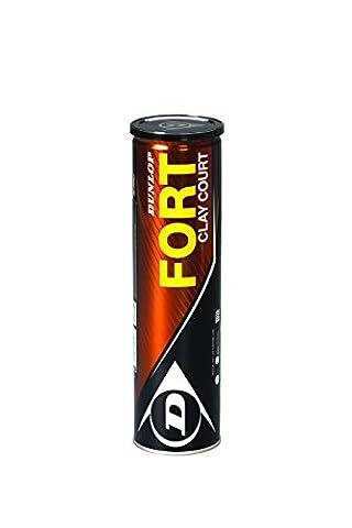 Dunlop Fort Clay Court 4 Tin Tube de 4 balles