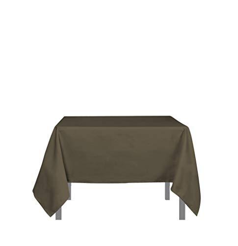 Soleil d'ocre 814234 ALIX Nappe anti-tâches carrée Polyester Moka 180 x 180 cm