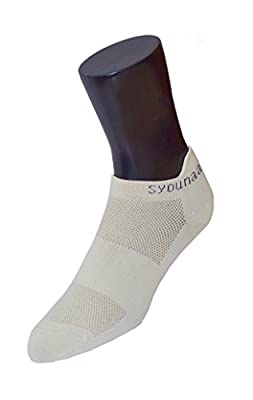 Syounaa Therapeutic Sports Socks For Women - Free Size, Low Cut Trainer Style (Gym Socks, Running Socks, Tennis Socks, Cycling Socks, Yoga Socks, Athletic Socks)